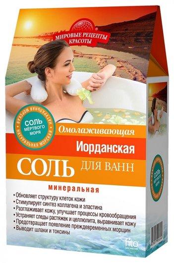 """Иорданская соль для ванн """"Омолаживающая""""  Фитокосметик"""