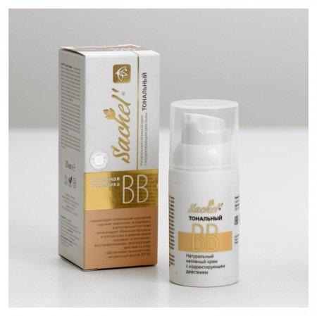 Тональный BB-крем для лица натуральный с корректирующим действием  Сашель