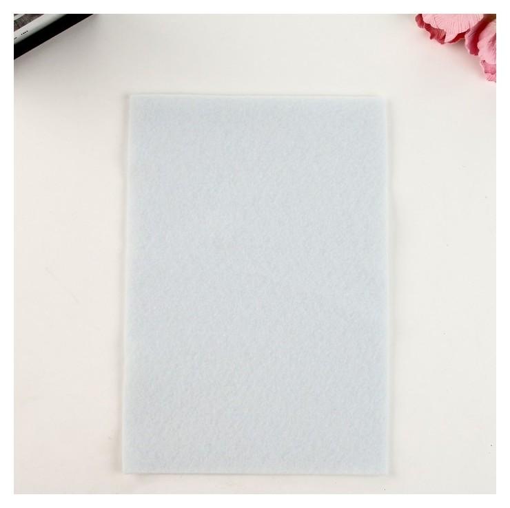 "Фетр мягкий ""Soft"" 2мм, 21х29,7см (Набор 10 листов) 180г, белый  Рукоделие"