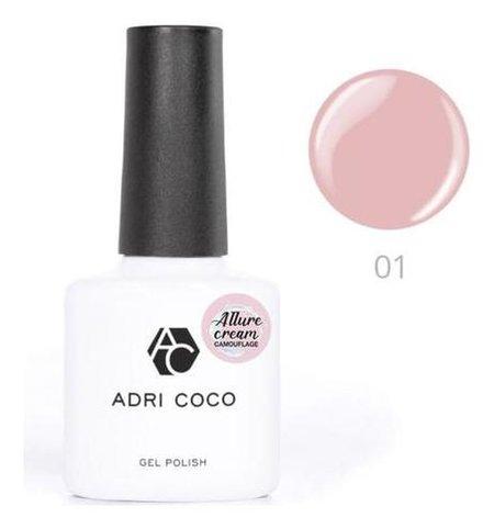 Гель-лак Adricoco Allure сream №01 камуфлирующий розовый, 8 мл