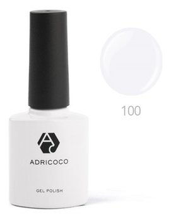 Цветной гель-лак Adricoco №100 белый, 8 мл  ADRICOCO