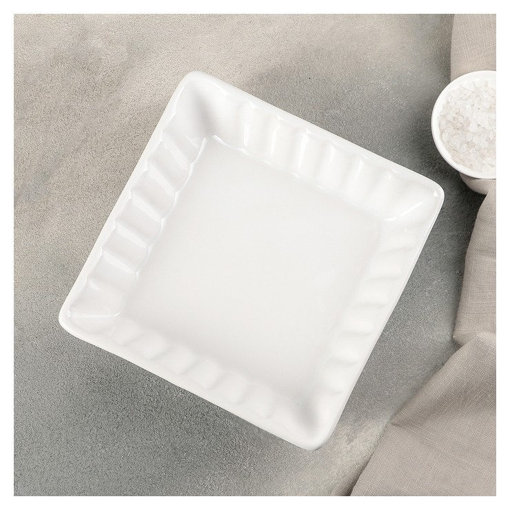 """Блюдо для запекания """"Лора"""" 18,5х18,5х5 см, цвет белый  Edessa Mutfak"""