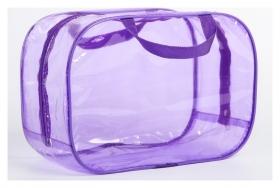 Сумка в роддом 23х32х17, цветной пвх, цвет фиолетовый