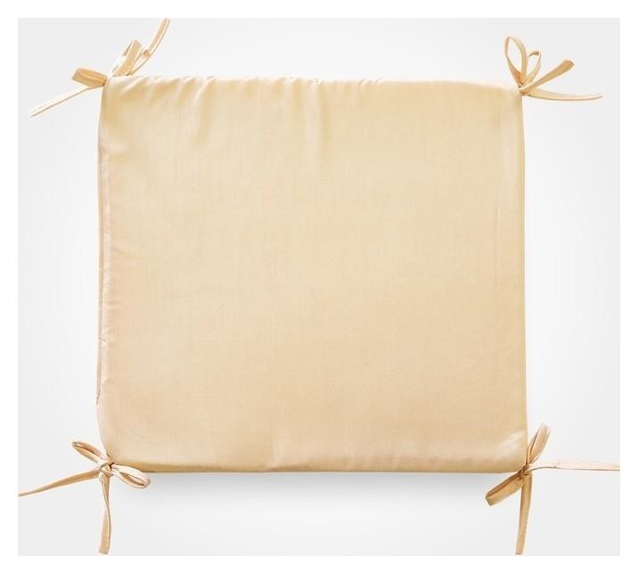 Сидушка на стул бамбук золото 34х34х1,5см, жаккард, поролон, пэ100%  NNB