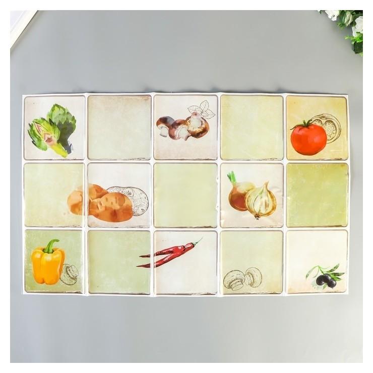 "Кухоннный фартук Room Decor ""Спелые овощи"" 42,2х70 см  Room Decor"