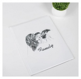 Папка для семейных документов, 1 комплект, цвет белый Семья