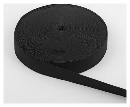 Лента эластичная, 35 мм, 25 ± 1 м, цвет чёрный  NNB