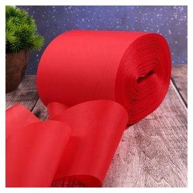 Лента капроновая, 100 мм × 100 ± 1 м, цвет красный