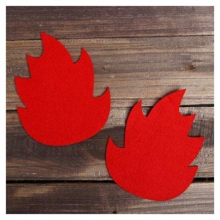 Основа для творчества и декорирования «Листик», набор 2 шт., цвет красный  NNB