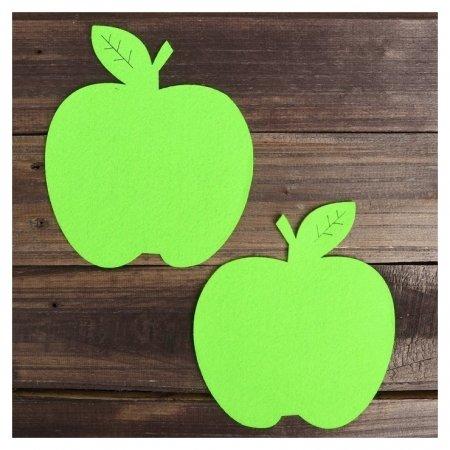 Основа для творчества и декорирования «Яблоко», набор 2 шт., цвет зелёный  NNB