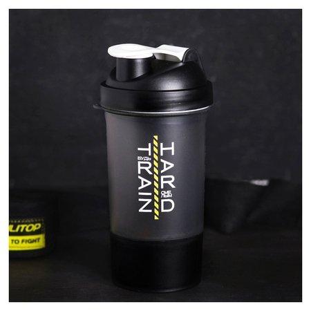 Шейкер спортивный «Будь смелым», с чашей под протеин, 500 мл  NNB
