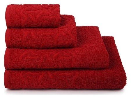 Полотенце махровое «Радуга» цвет красный, 70х130 см, 295г/м2  Cleanelly