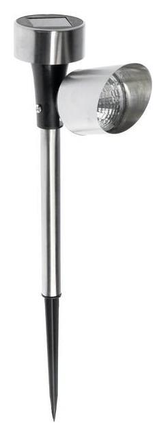 Фонарь садовый на солнечной батарее Uniel Spot, нержавеющая сталь, белый свет, Ip44, 375 мм  Uniel