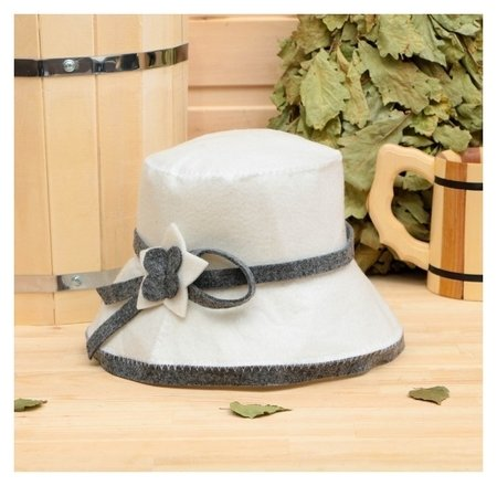 Банная шапка женская с аппликацией (Эконом)  NNB