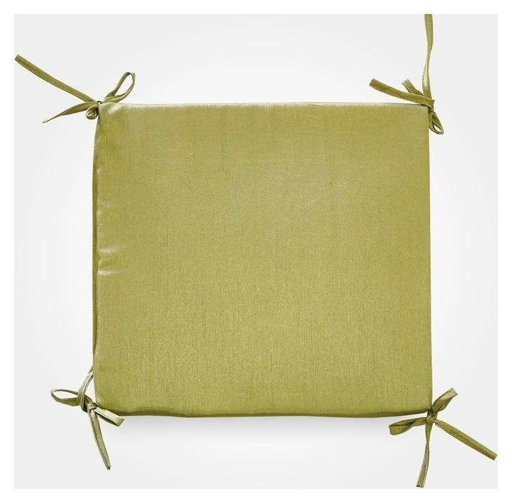 Сидушка на стул бамбук зеленый 34х34х1,5см, жаккард, поролон, пэ100%  Witerra