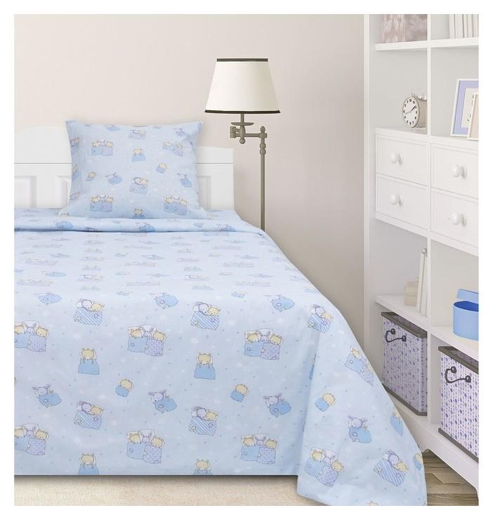 Постельное бельё 1,5сп ночь нежна «Баю-бай», цвет голубой  Ночь Нежна