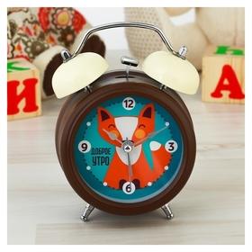 "Часы будильник ""Доброе утро!"", D=8 см  NNB"