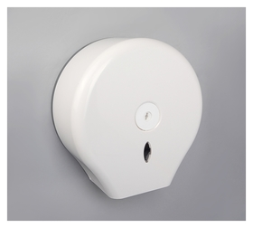 Диспенсер туалетной бумаги 28×27.5×12 см, втулка 6,5 см, пластик, цвет белый  NNB