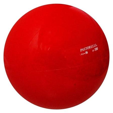 Мяч гимнастический Pastorelli, 16 см, цвет красный  Pastorelli