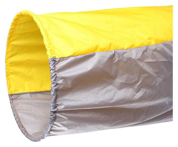 Тоннель для эстафет, длина 335 см, 1 кольцо диаметром 76 см, цвет жёлтый/серый  NNB