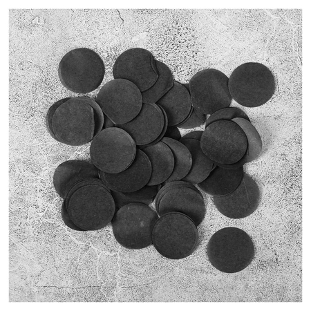 """Наполнитель для шара """"Конфетти круг"""" 2,5 см, бумага, цвет черный, 500г  NNB"""