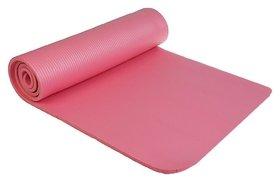 Коврик для йоги 183 × 61 × 1 см, цвет розовый