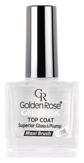 Верхнее покрытие для лака Gel Look Тop Coat Superior Gloss & Plump  Golden Rose