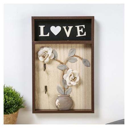 Крючки декоративные Ваза с розами Love  NNB