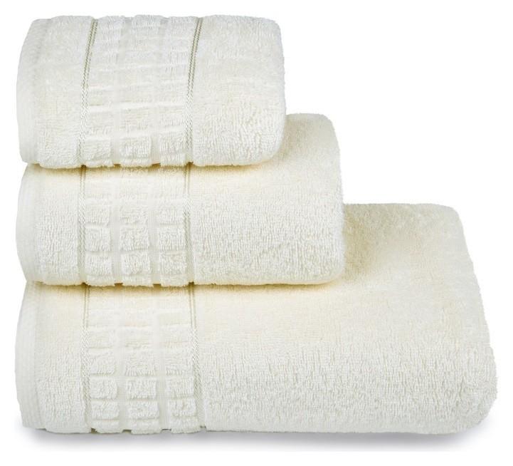 Полотенце махровое «Megapolis» 70х130 см, цвет молочный, 390 гр/м2  Cleanelly