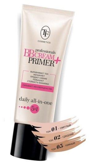 Увлажняющий тональный крем и основа под макияж Professional BB cream+primer 5 в 1  Триумф