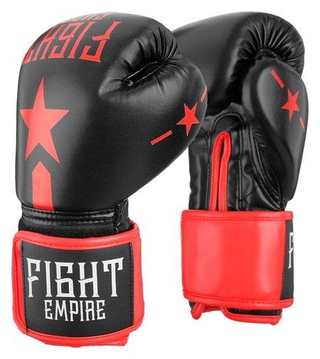 Перчатки боксёрские детские Fight Empire, 6 унций, цвет чёрный  КНР