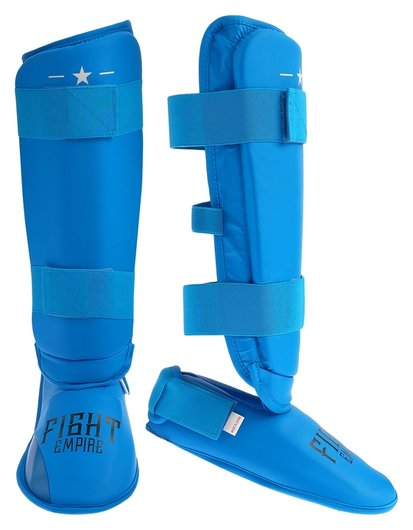 Защита голень+стопа Fight Empire, размер XL, цвет синий  КНР