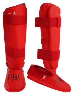 Защита голень+стопа Fight Empire, размер L, цвет красный