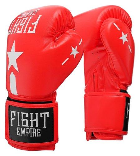 Перчатки боксёрские детские Fight Empire, 4 унций, цвет красный  КНР
