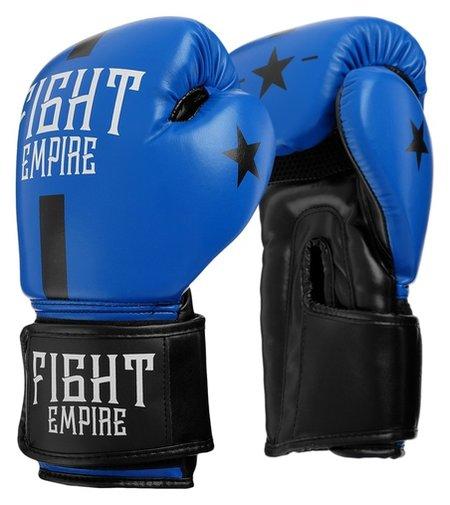 Перчатки боксёрские Fight Empire, 10 унций, цвет синий  КНР