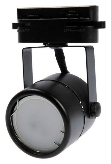 Трековый светильник Luazon Lighting под лампу Gu10, круглый, корпус черный  NNB