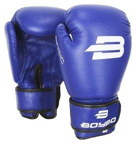 Перчатки боксёрские Boybo Basic к/з, 14 OZ, цвет синий