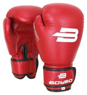Перчатки боксёрские Boybo Basic к/з, 14 OZ, цвет красный