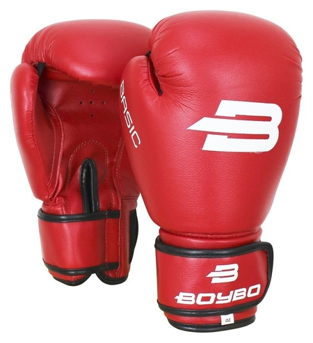 Перчатки боксёрские Boybo Basic к/з, 14 OZ, цвет красный  Boybo