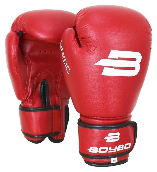 Перчатки боксёрские Boybo Basic к/з, 4 OZ, цвет красный  Boybo