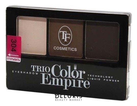 Купить Тени для век Триумф, Тени для век тройные Trio Color Empire , Китай, Тон 304 (Шоколад)