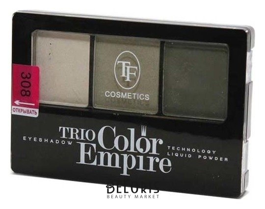 Купить Тени для век Триумф, Тени для век тройные Trio Color Empire , Китай, Тон 308 (Оливковое золото)