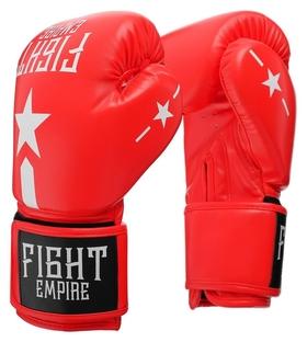 Перчатки боксёрские Fight Empire, 16 унций, цвет красный