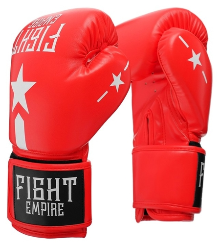 Перчатки боксёрские Fight Empire, 16 унций, цвет красный КНР