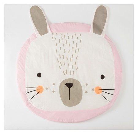 """Коврик детский игровой крошка Я """"Зайка""""цв.розовый, D 90 см, 100% хлопок  Крошка Я"""