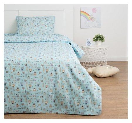 Детское постельное бельё экономь и Я «Миша» 1.5сп, цвет голубой, 147х210±5см, 150х214±5см, 50х70±5см - 1шт  Экономь и Я
