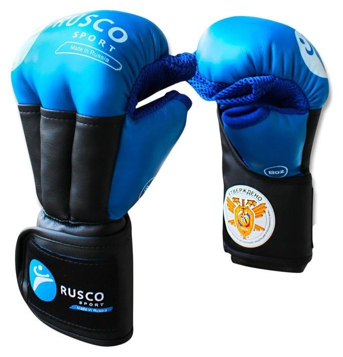Перчатки Rusco Sport для рукопашного боя Pro, 8 унций, цвет синий  Rusco sport