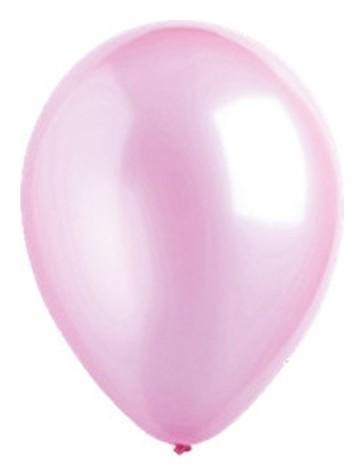 """Шар латексный 5"""", перламутр, набор 100 шт., цвет розовый  Everts"""