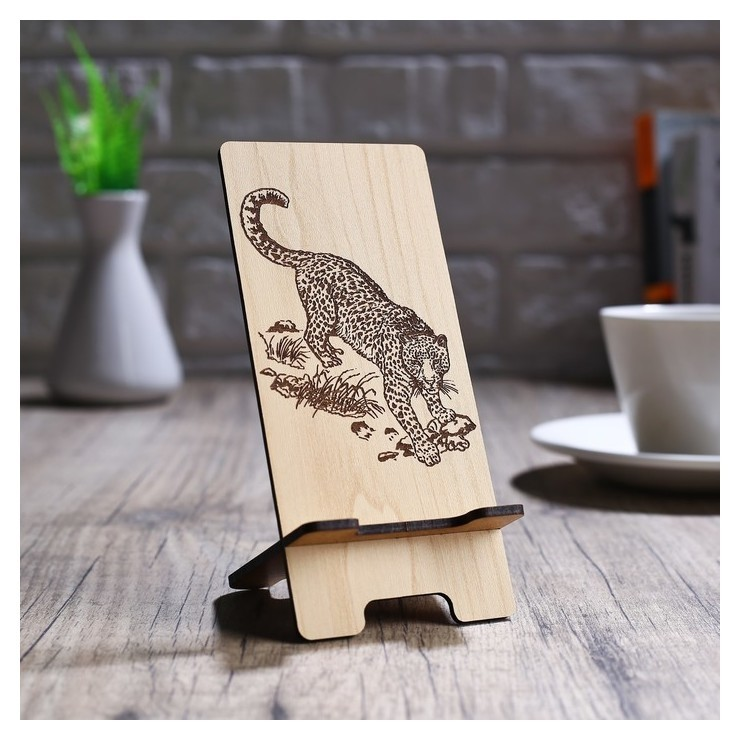Подставка под телефон «Леопард»  NNB