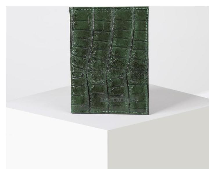 Обложка для автодокументов с вкладышами пвх, цвет зелёный  NNB